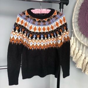 Forever 21 Nordic Fair Isle Printed Soft Sweater